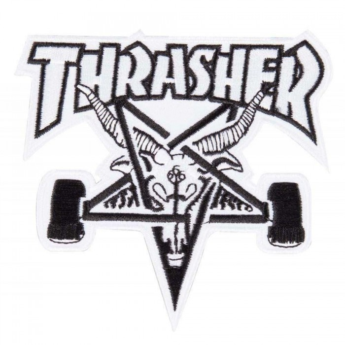 Thrasher Magazine SK8 Goat Sew On Patch White Black