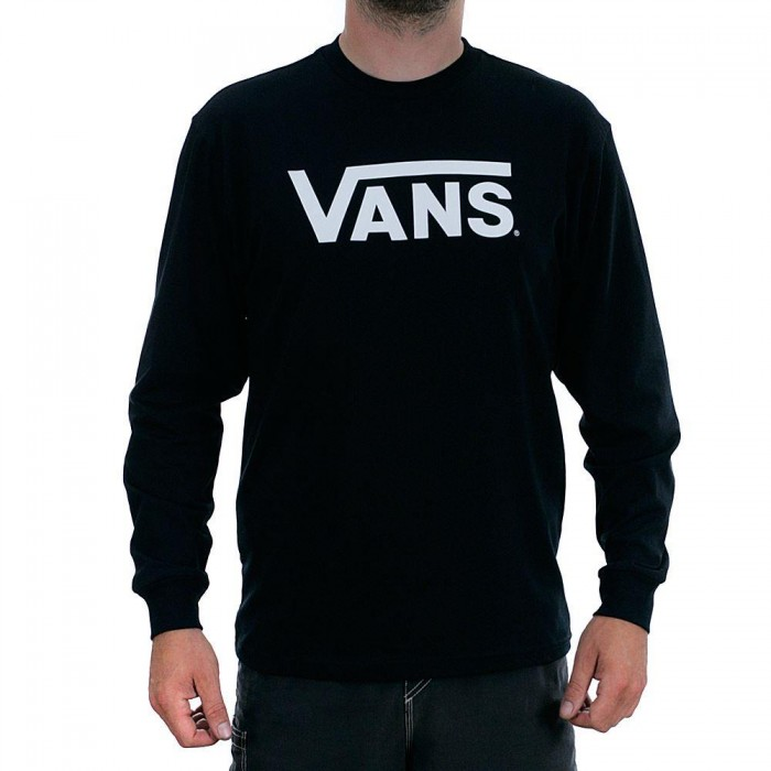 Vans Classic Long Sleeved T-Shirt Black White
