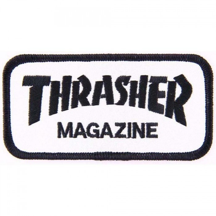 Thrasher Magazine Logo Sew On Patch Black White