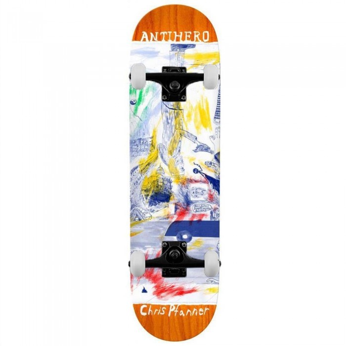 """Anti Hero Pfanner Sf Then And Now Complete Skateboard Multi 8.06"""""""