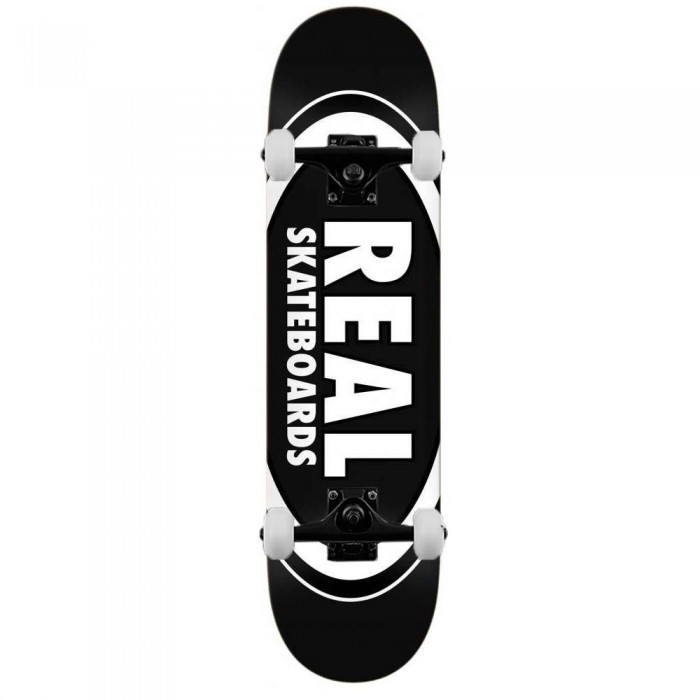 """Real Team Classic Oval Complete Skateboard Black 8.25"""""""