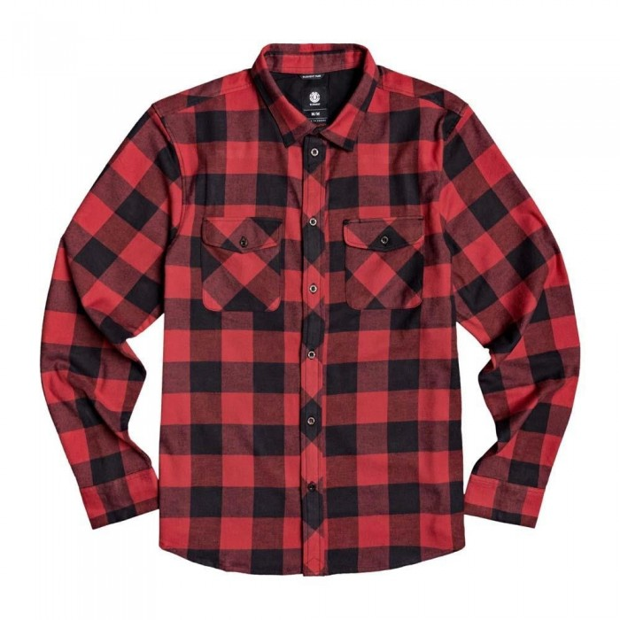 Element Tacoma Flannel Shirt Pompeian Red