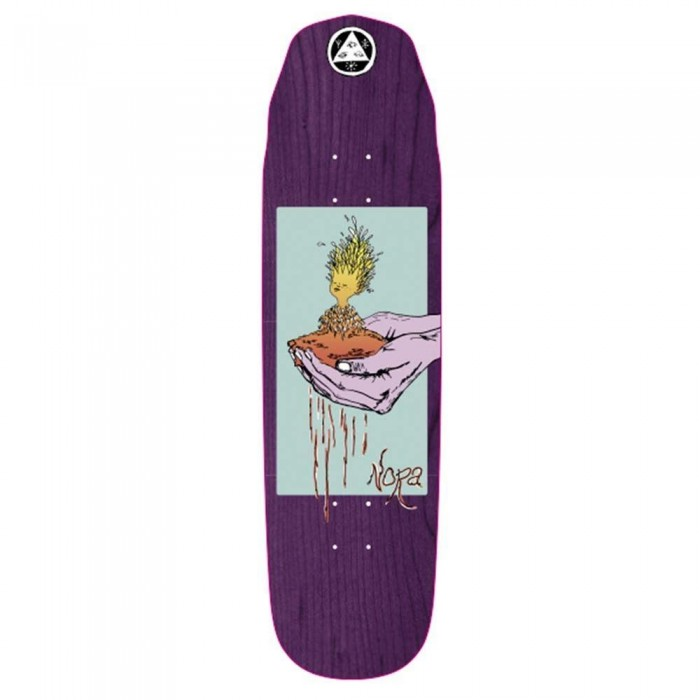 """Welcome Soil Nora Vasconcellos  on Wicked Queen Skateboard Deck Purple Stain 8.66"""""""