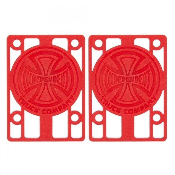 Indy Skateboard Riser Pads (Pack of 2) Red 1/8""