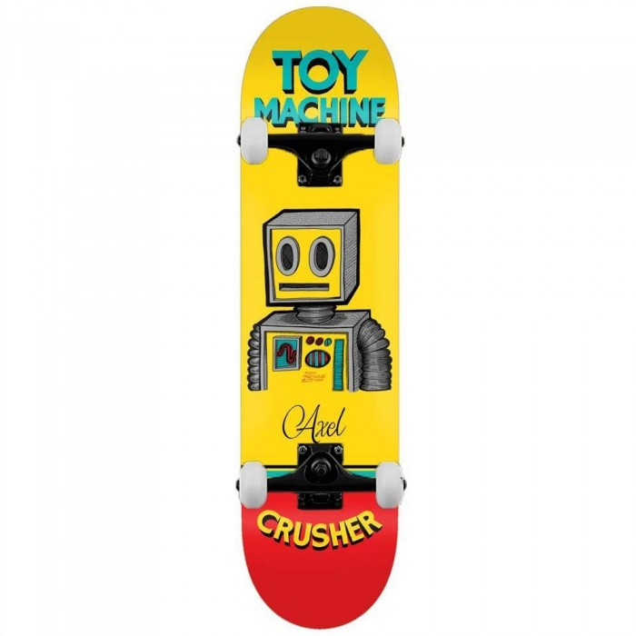 """Toy Machine Axel Pen N Ink Complete Skateboard Yellow 8"""""""