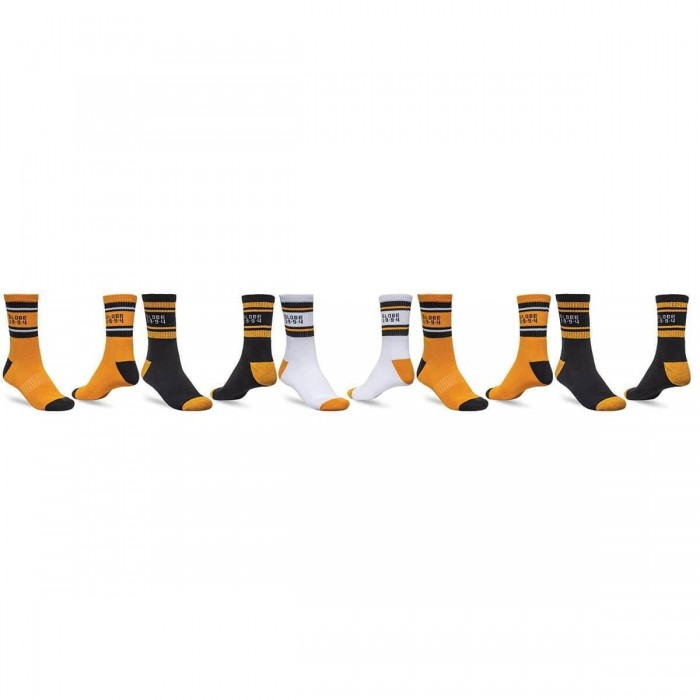 Globe Bengal Crew Socks 5 Pack Gold Uk7 - Uk11