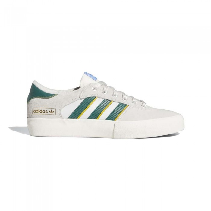 Adidas Skateboarding Matchbreak Super Crystal White Green Yellow Skate Shoes