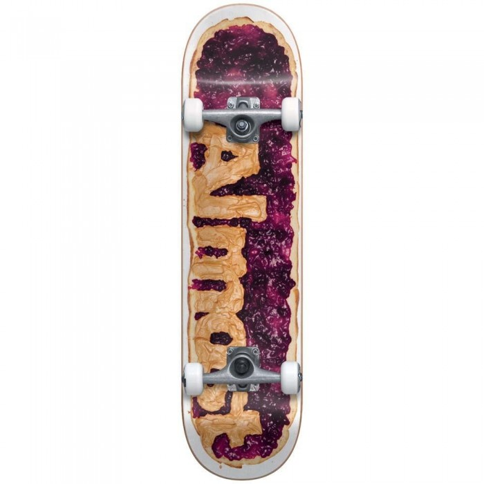 """Almost Peanut Butter And Jam Youth Factory Complete Skateboard Grape 7.25"""""""