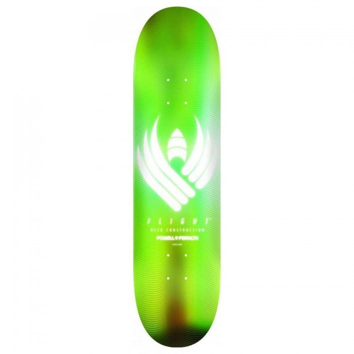 Powell Peralta Flight Glow Flight Skateboard Deck 245 Lime 8.75""
