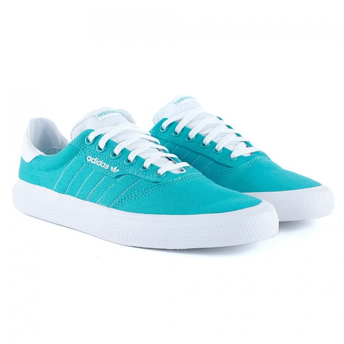Adidas Skateboarding 3MC Hi-Res Aqua Feather White Skate Shoes