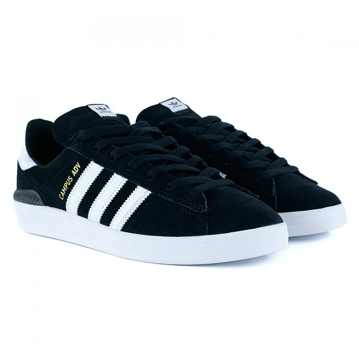 f6ced625855 ebay adidas skateboarding campus adv core black feather white new f002b  2f486