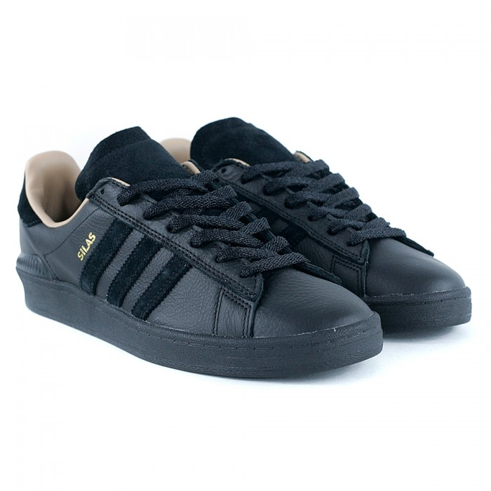 Adidas Skateboarding Campus ADV x Silas Core Black Skate Shoes