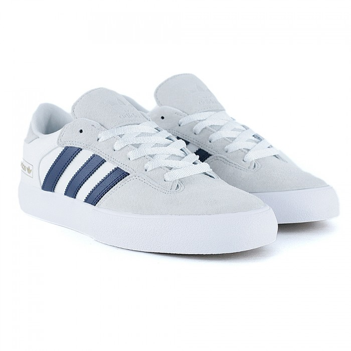 Adidas Skateboarding Matchbreak Super Crystal White Collegiate Navy Feather White Skate Shoes