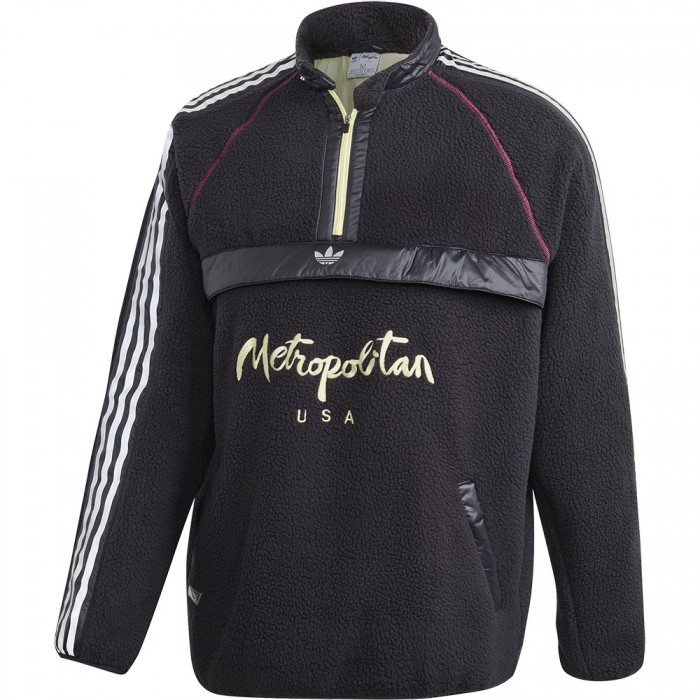 Adidas Skateboarding x Metropolitan Polar Track Top Black Yellow Tint Real Magenta