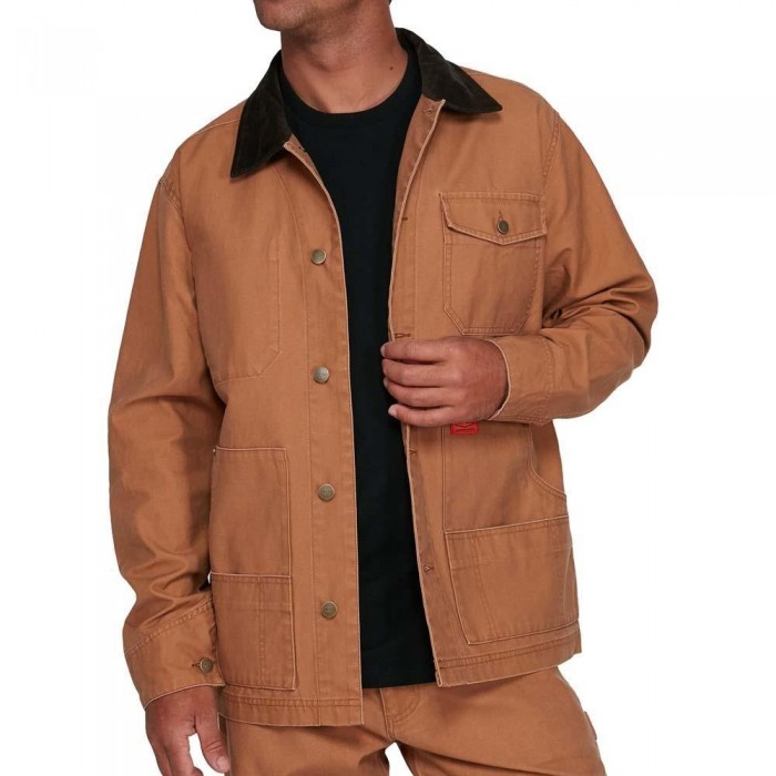 RVCA Chain Mail Chore Jacket Camel