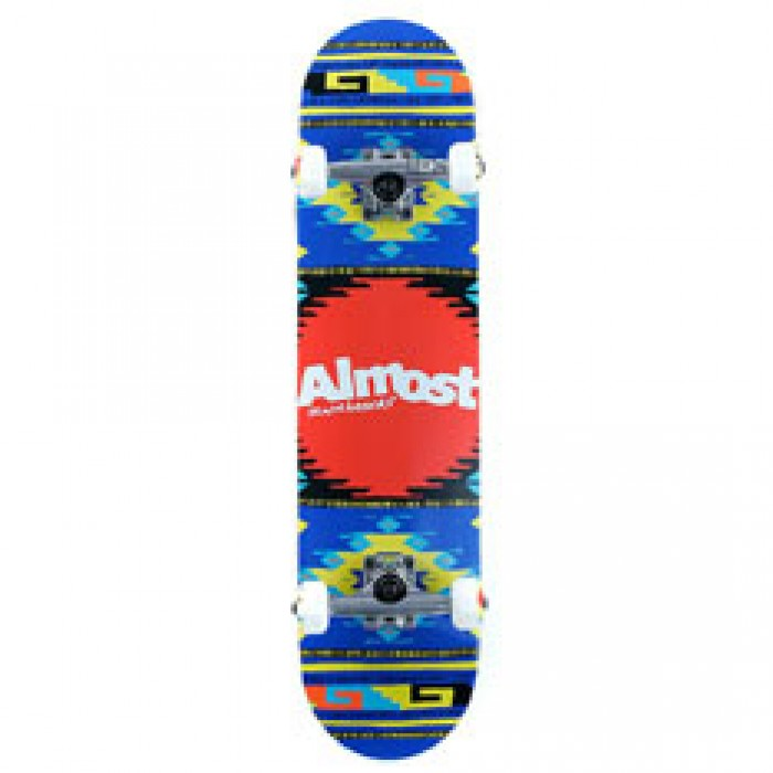 Almost Skateboards Rustic Factory Complete Skateboard Blue 7.5""