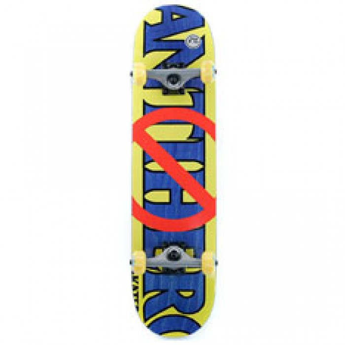 Anti Hero Skateboards Double Negative Factory Complete Skateboard Multi 7.75""