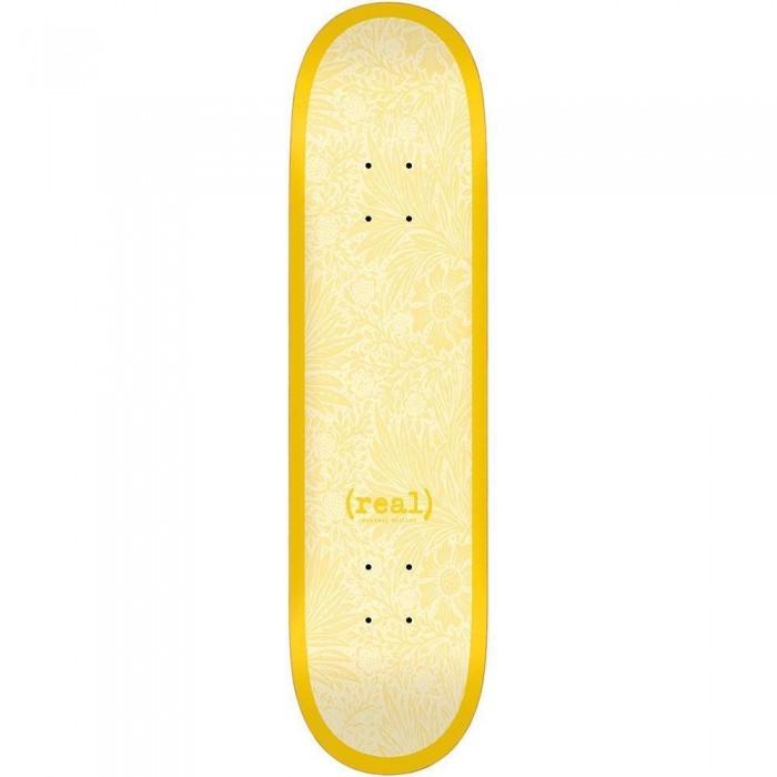 Real Flowers Renewal Skateboard Deck Yellow 8.38""