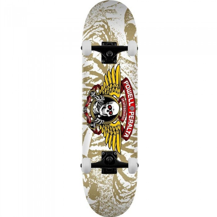 """Powell Peralta PP Deck Winged Ripper Shape 23 White Complete Skateboard 7"""""""