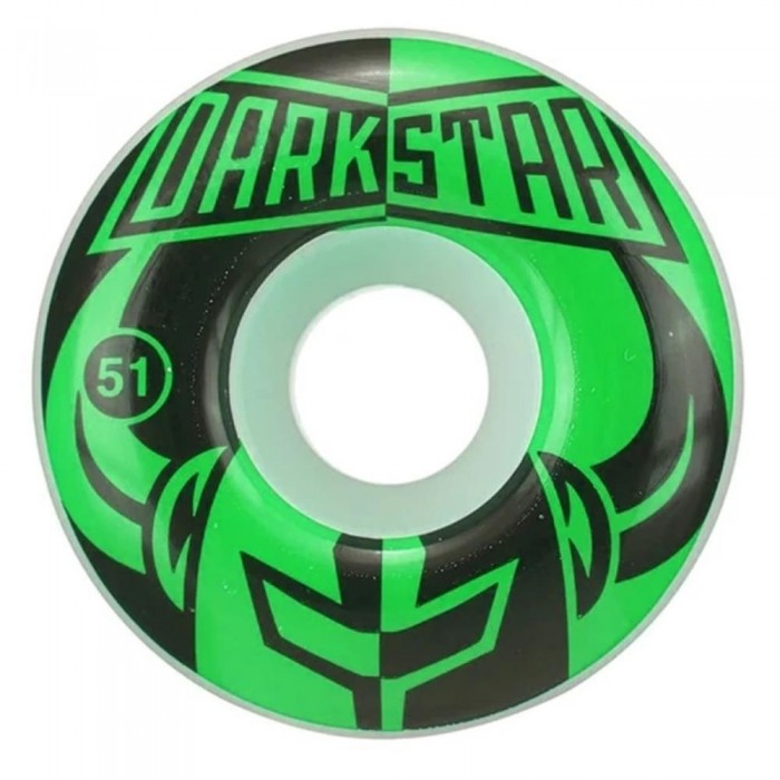 Darkstar Divide Skateboard Wheels Green 51mm