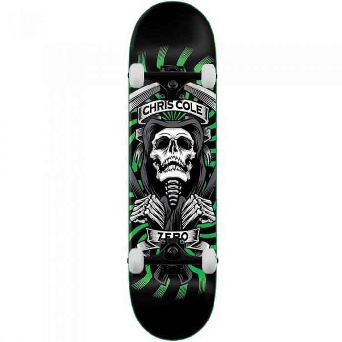 Zero Skateboards Cole MMXX Complete Skateboard Black Green 8.25""