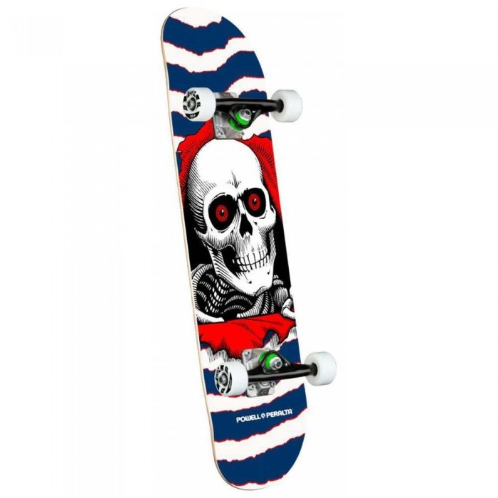"""Powell Peralta Ripper One Off Shape Factory Complete Skateboard Navy 7.75"""""""