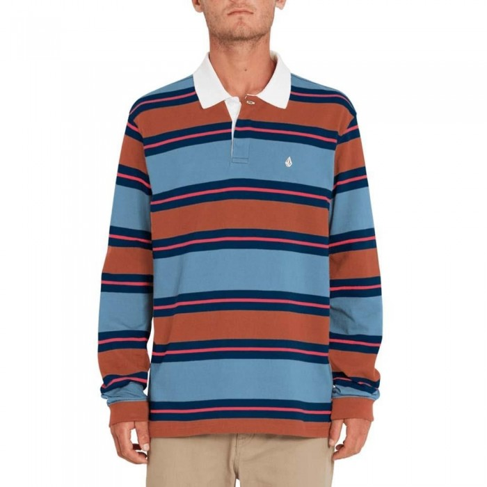 Volcom Sumpter Polo Long Sleeved China Blue