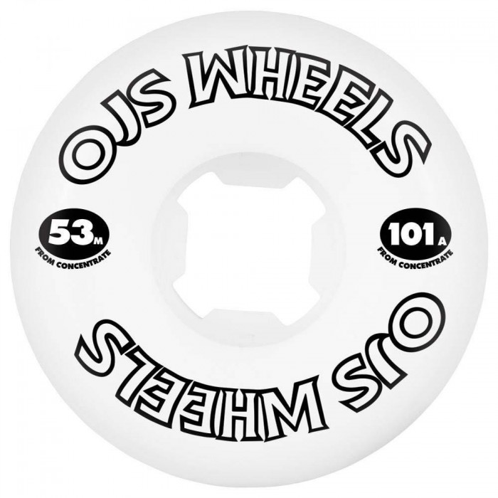 OJ Wheels From Concentrate Hardline Skateboard Wheels 101a White 53mm