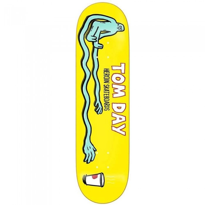 Heroin Skateboards Tom Day Strech Skateboard Deck Yellow 8.5""
