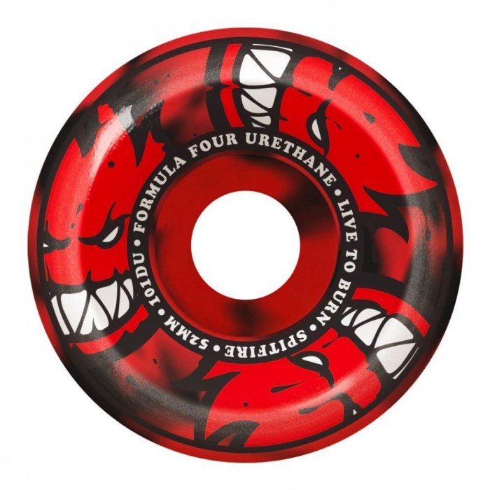 Spitfire Formula Four Wheels 101 Afterburners Co Red/Black Swirl 54 MM