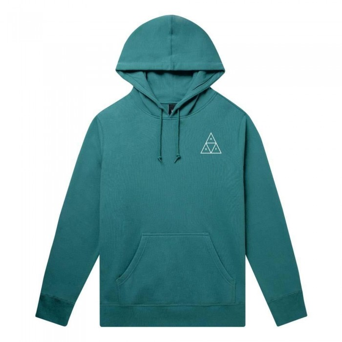 Huf Essentials Triple Triangle Pullover Hooded Sweatshirt Bold Teal
