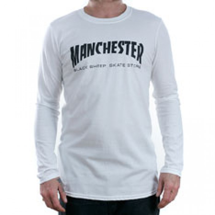 Black Sheep Manchester Long Sleeved T-Shirt White
