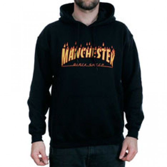 Black Sheep Manchester Rain Of Fire Black Hooded Sweatshirt