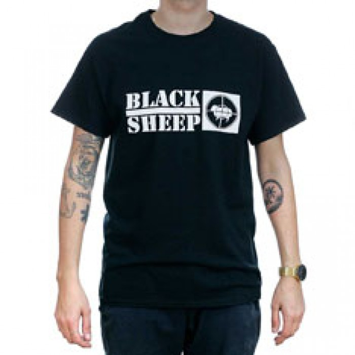 Black Sheep Public Enemy No 1 T-Shirt Black