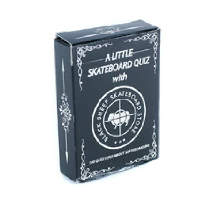 Black Sheep Store 'A Little Skateboard Quiz' Card Game