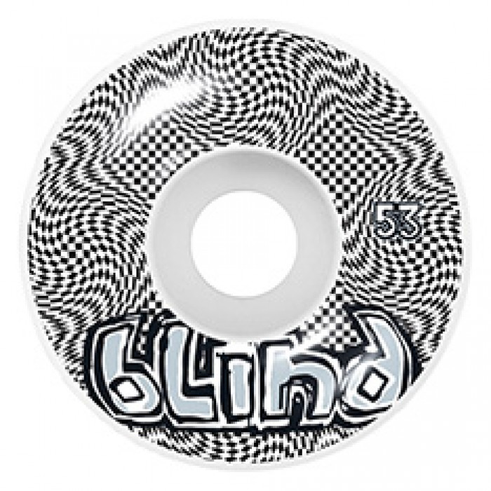 Blind Skateboards OG Warped Skateboard Wheels White Black 53mm
