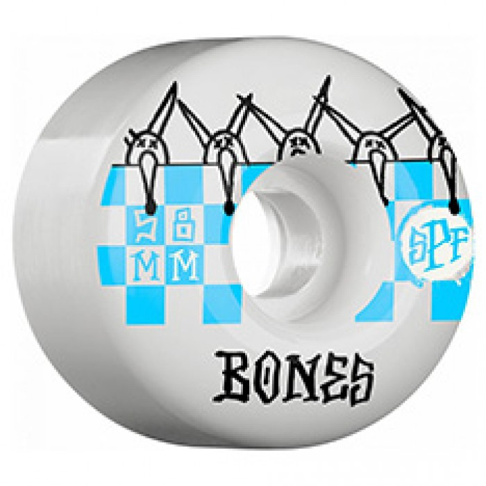 Bones SPF Tiles Skateboard Wheels White 84b 58mm