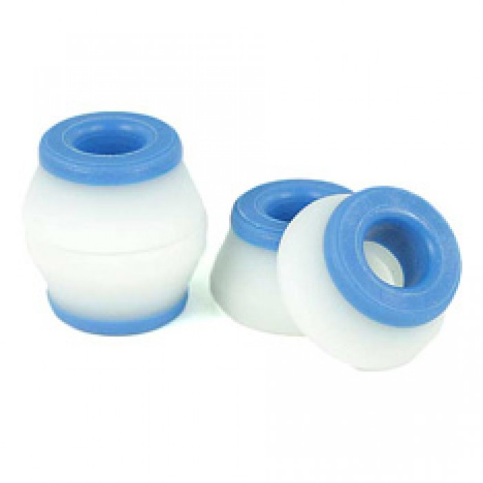 Bones Wheels Skateboard Bushings Hardcore 4 Pack Blue Soft