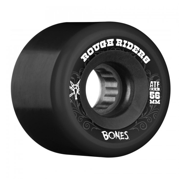 Bones Rough Riders ATF Skateboard Wheels Black 56mm