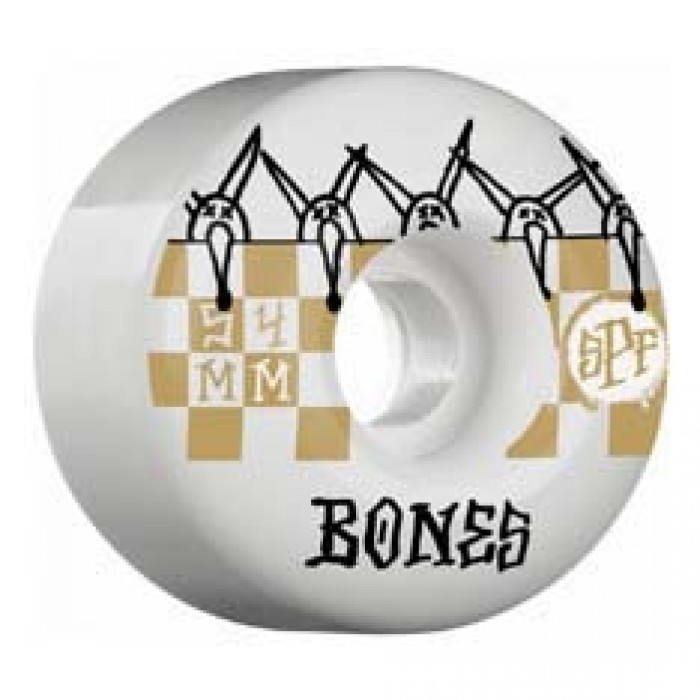 Bones SPF Tiles Skateboard Wheels White 81b 54mm