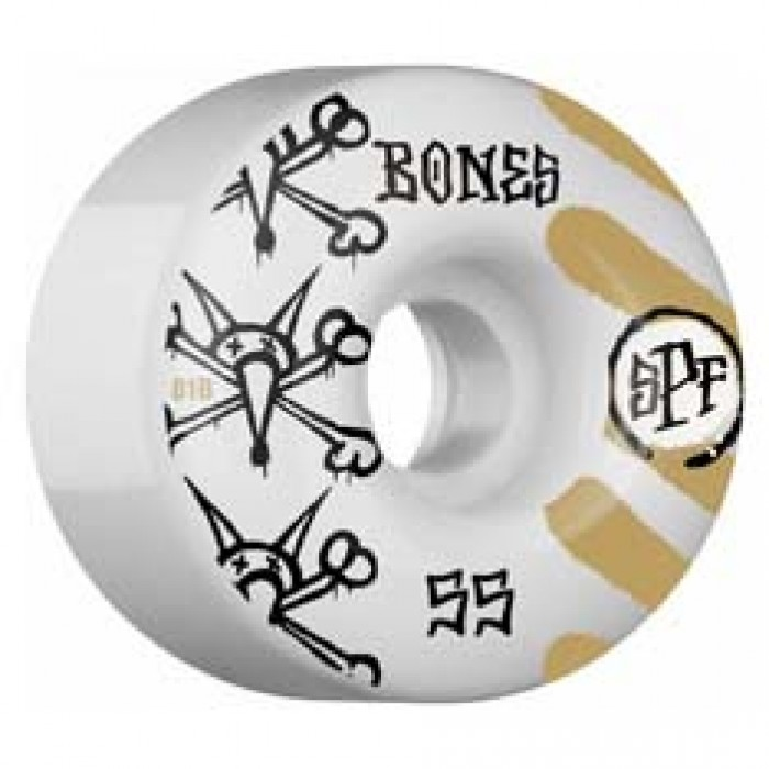 Bones SPF War Paint Skateboard Wheels White 81b 55mm