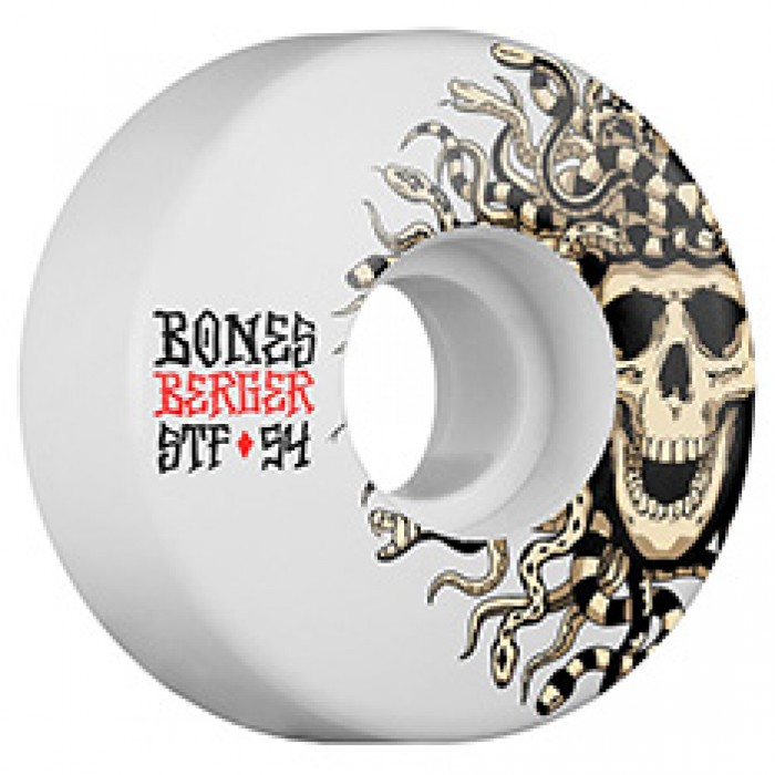 Bones STF Berger Medusa V3 Skateboard Wheels White 54mm
