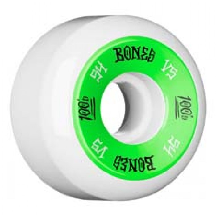 Bones Wheels OG 100's #11 V5 Skateboard Wheels White 54mm