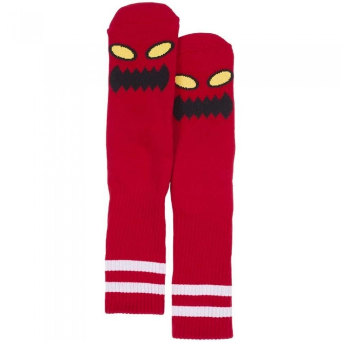 Toy Machine Monster Face Socks Red