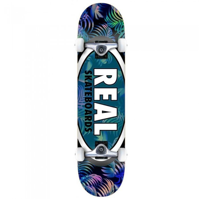 Real Team Tropic Ovals 2 Sm Factory Complete Skateboard Multi 7.5""