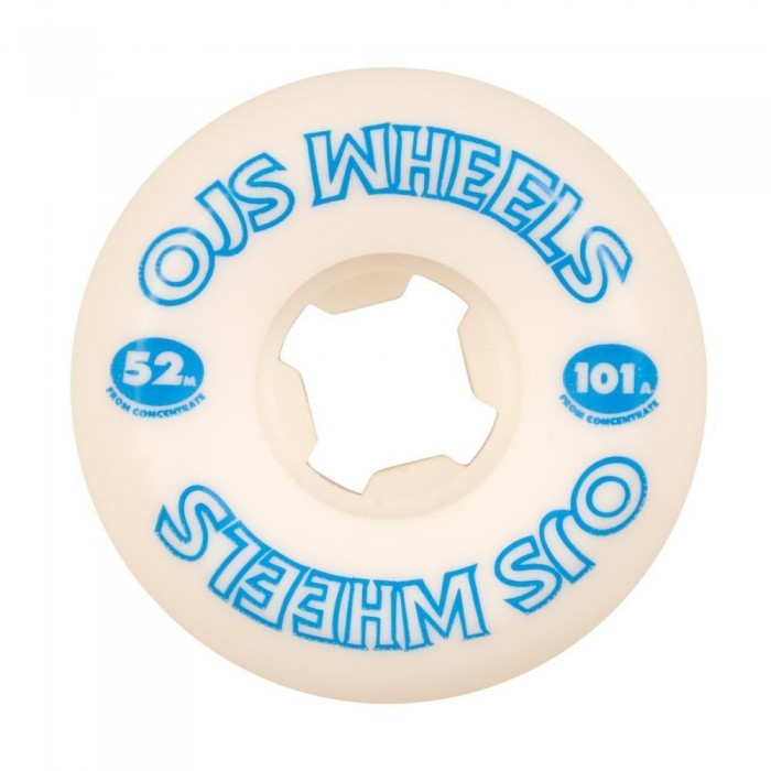 OJ Wheels From Concentrate Hardline Skateboard Wheels 101a White 52mm