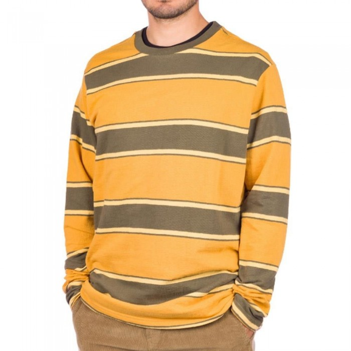 RVCA Reducer Stripe Long Sleeve Crewneck T-Shirt Sequoia Green