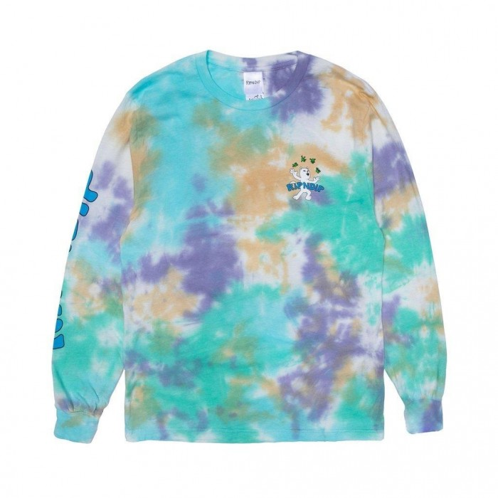 Rip N Dip Lucky Charms Long Sleeved T-Shirt Multi Tie Dye Wash