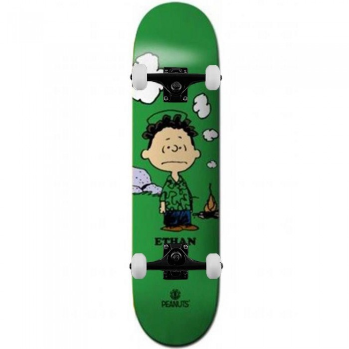 """Element x Peanuts Roy Loy Complete Skateboard Green 8.45"""""""