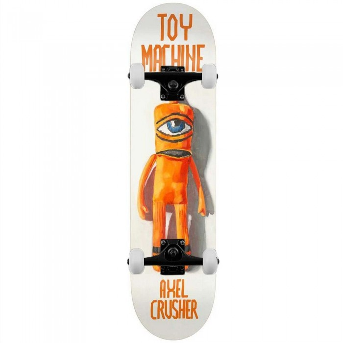 """Toy Machine Axel Doll Complete Skateboard White 8.5"""""""